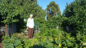Rosemary in her back yard Jan 2019